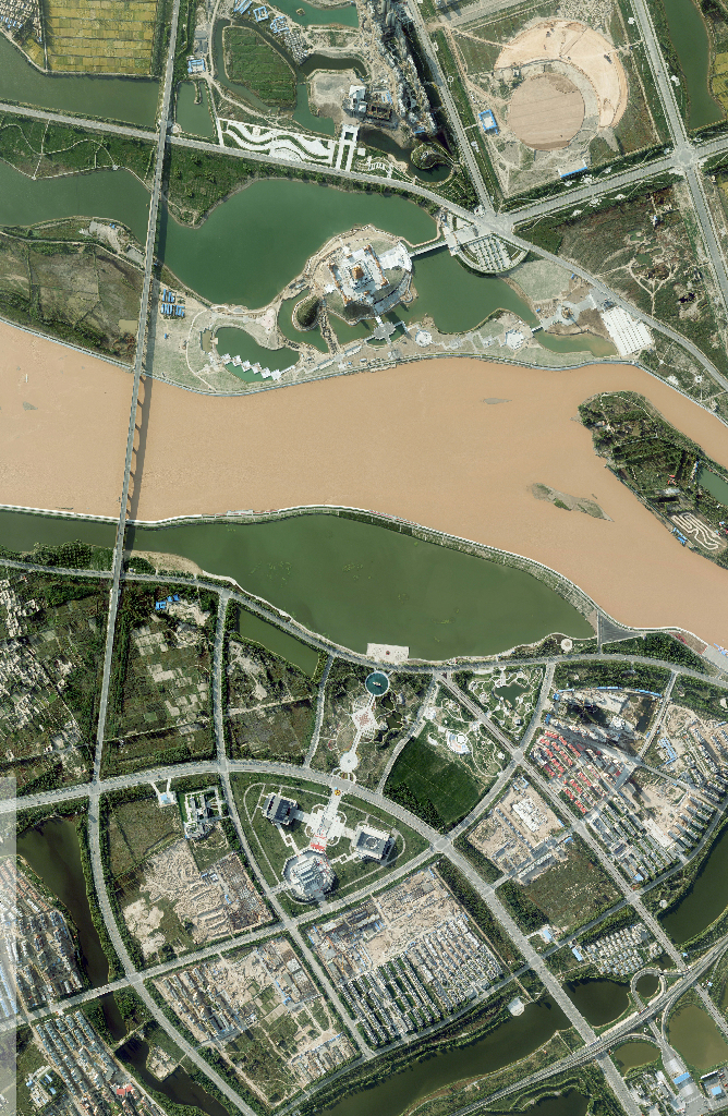 Aerial photography of the Yellow River