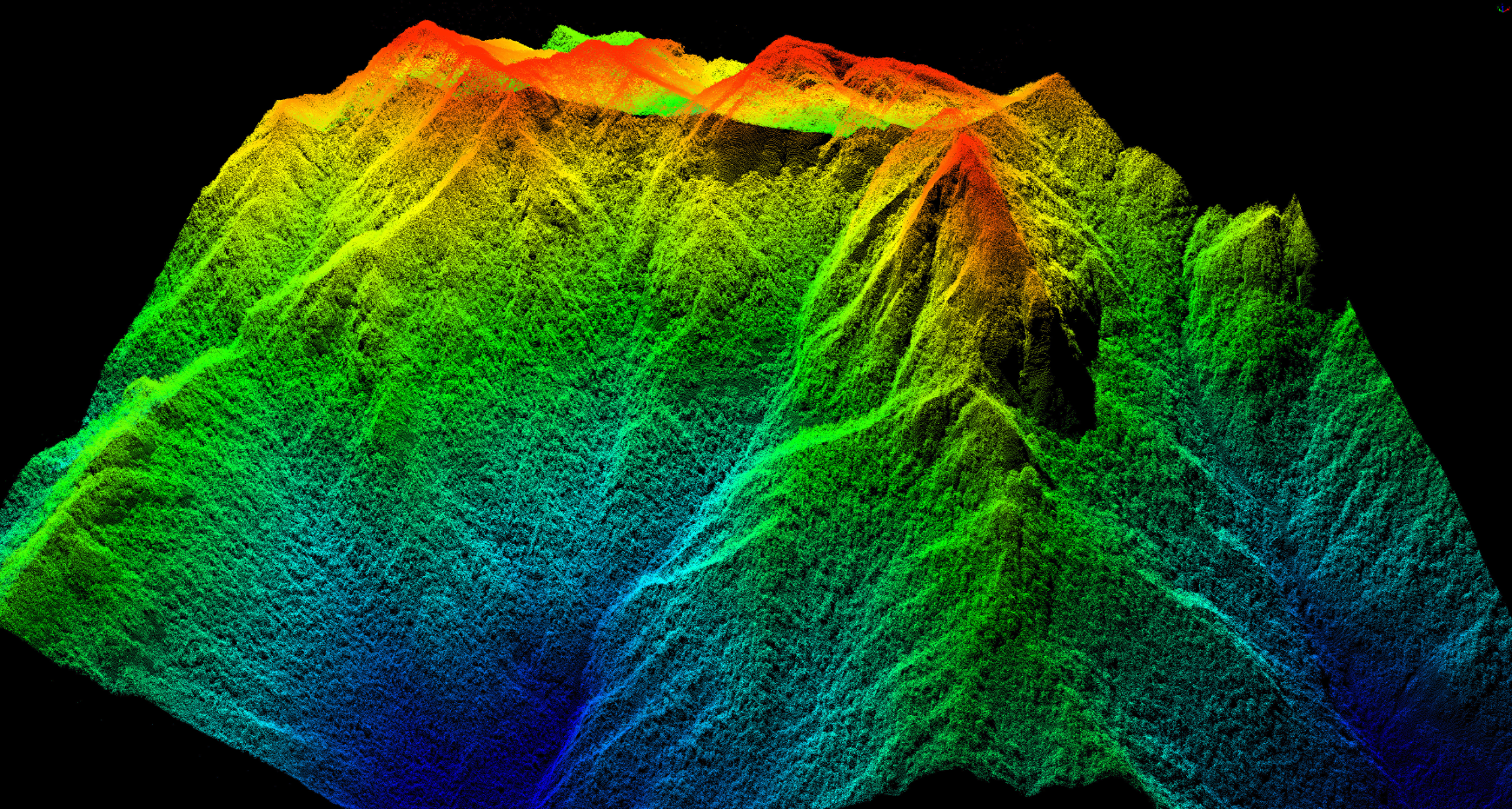 Lidar and hyperspectral remote sensing data fusion realize complementary advantages