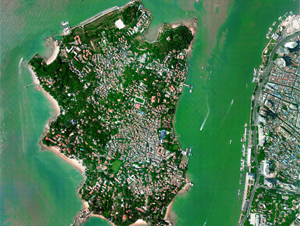 Aerial Photography of Xiamen Island