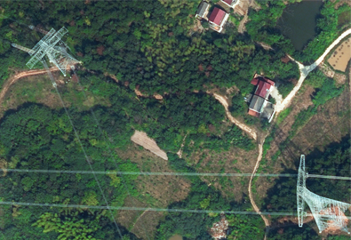 Aerial photography service of Baihetan-Jiangsu section UHV DC transmission line project
